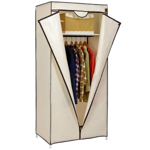 Vonhaus prenosna garderobna omara iz tekstila, bež