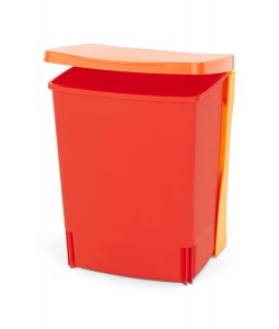 Brabantia vgradni koš za smeti 10L rdeč