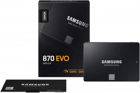 "Samsung 500GB 870 EVO SSD SATA3 2.5"" disk"