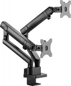 IcyBox dvojni nosilec za monitor do diagonale 32'' z montažo na rob mize