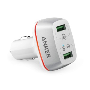 Anker PowerDrive+ 2 42W QC 3.0 avto-polnilec bel