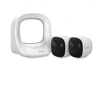 Imou Cell pro videonadzorni komplet  2 × kamera Cell Pro  Brezžično | 1080P | Polnilna baterija | Zaznavanje PIR | Nočni vid | IP65 odporen na vremenske vplive | Oblak