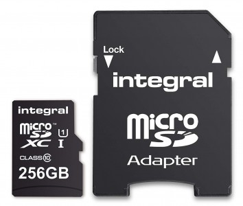 INTEGRAL 256GB SMARTPHONE & TABLET MICRO SDXC class10 UHS-I U1 90MB/s SPOMINSKA KARTICA+ SD ADAPTER