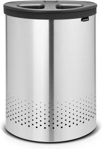 Brabantia koš za ločevanje perila Selector 55L, Matt Steel