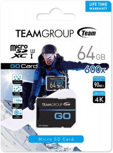 Teamgroup GO 64GB Micro SDHC/SDXC UHS-I U3 90MB/s spominska kartica