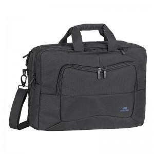 """RivaCase črna raztegljiva torba za prenosni računalnik 16"""" 8490 nahrbtnik"""