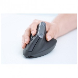 Logitech miška cordless MX VERTICAL bluetooth, unifying, USB-C