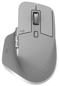 Logitech MX Master 3 miška, brezžična, unifying, darkfield, 4000 DPI, polnilna  siva