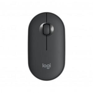 Logitech miška Pebble M350 Wireless, grafitna barva