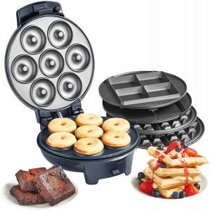 VonShef 3v1 aparat za pripravo vafljev, krofov in brownijev