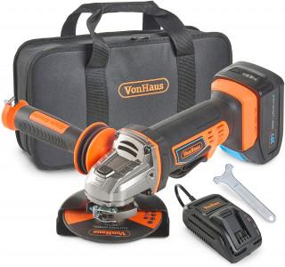 VonHaus 115m akumulatorski kotni brusilnik + 20V D-Series 3.0Ah baterija 3500006