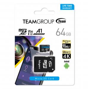 Teamgroup Elite  A1 64GB MicroSD UHS-I U3 90MB/s Android spominska kartica