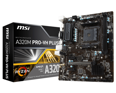 MSI A320M PRO-VH PLUS, DDR4, SATA3, USB3.1Gen1, HDMI, AM4 mATX