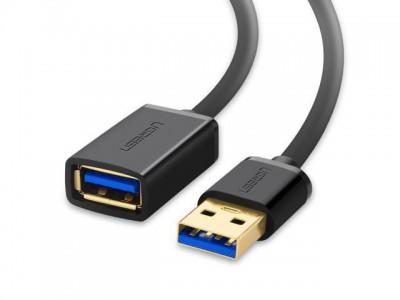 Ugreen USB 3.0 podaljšek (M na Ž) črn 1.5 m