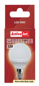 ActiveJet LED sijalka, 5W, E14, topla svetloba