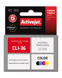 ActiveJet barvno črnilo Canon CLI-36