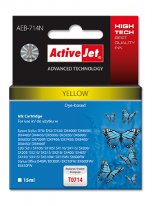 ActiveJet rumeno črnilo Epson T0714