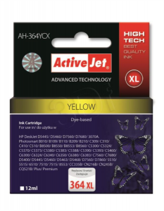 ActiveJet rumeno črnilo HP CB325EE 364 XL