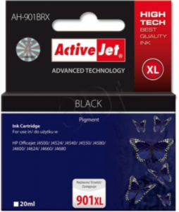 ActiveJet črno črnilo HP CC654 901 XL