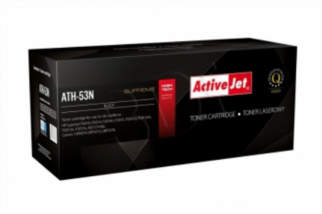 ActiveJet črn toner HP Q7553A in Canon, 53A