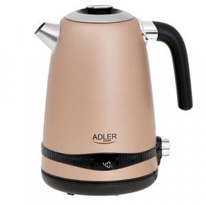 Adler grelnik vode 1,7L z LCD zaslonom/nastavitev temperature šampanjec barva AD1295