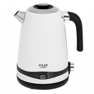 Adler grelnik vode 1,7L z LCD zaslonom/nastavitev temperature bel AD1295w