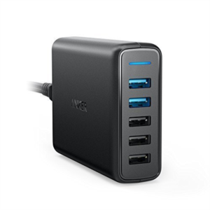 Anker PowerPort Speed 5 2x QC 3.0 črn