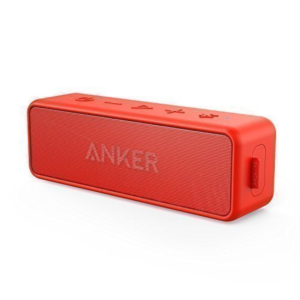 Anker SoundCore 2 Bluetooth 4.2 zvočnik 2x6W IPX5 vodoodporen rdeč