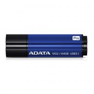 A-DATA S102 PRO 64GB USB3.1 TITANIUM moder spominski ključek