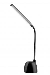 ASALITE namizna svetilka 6W, 4000K, 480lm, črna, dimer