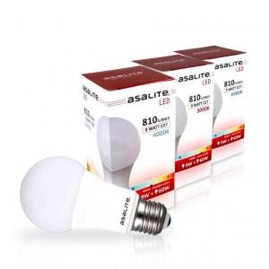 ASALITE LED sijalka E27 9W 3000K 810lm