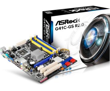 ASRock G41C-GS R2.0, DDR2/3, SATA2, VGA, LGA775 mATX