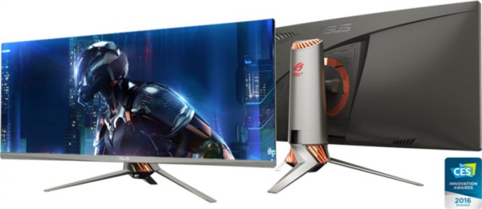 ASUS PG348Q 34'' ROG SWIFT Gaming IPS ukrivljen monitor, 3440 x 1440, 5ms, 50/100Hz, DisplayPort, USB3.0