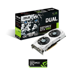 Grafična kartica ASUS GeForce GTX 1060, 3GB GDDR5, PCI-E 3.0