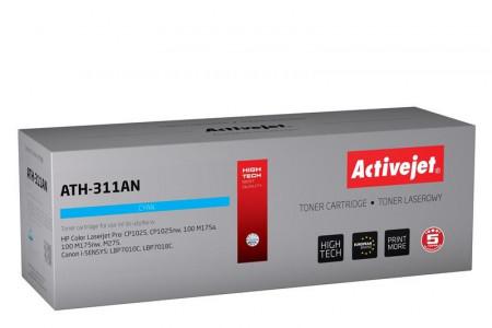 Activejet cyan toner HP CE311A. Canon CRG-729C