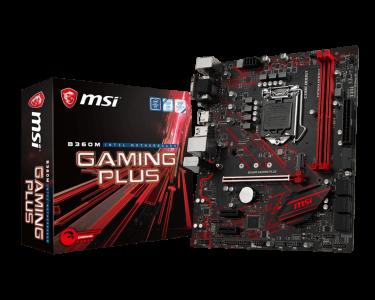 MSI B360M GAMING PLUS, DDR4, SATA3, USB3.1Gen1, HDMI, LGA1151 mATX