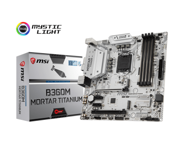 MSI B360M MORTAR TITANIUM, DDR4, SATA3, USB3.1Gen2, DP, LGA1151 mATX