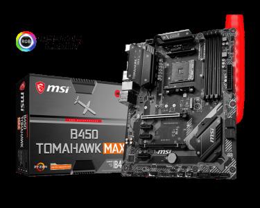 MSI B450 TOMAHAWK MAX, DDR4, SATA3, USB3.2Gen2, HDMI, AM4 ATX