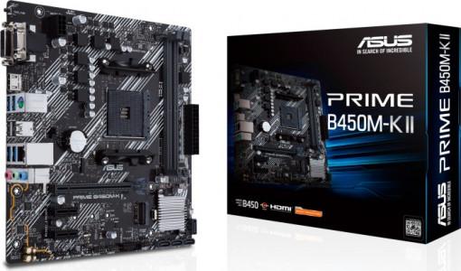 ASUS PRIME B450M-K II, DDR4, SATA3, USB3.2Gen1, HDMI, AM4 mATX