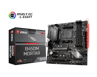 MSI B450M MORTAR, DDR4, SATA3, USB3.1Gen2, DP, AM4 mATX