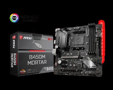 MSI B450M MORTAR, DDR4, SATA3, USB3.1Gen2, DP, AM4 mATX