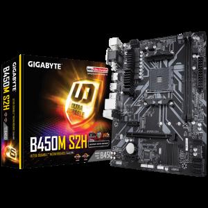 GIGABYTE B450M S2H, DDR4, SATA3, USB3.1Gen1, HDMI, AM4 mATX
