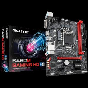 GIGABYTE B460M GAMING HD, DDR4, SATA3, USB3.2Gen1, HDMI, LGA1200 mATX