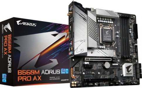 GIGABYTE B560M AORUS PRO AX, DDR4, SATA3, USB3.2Gen2, DP, WIFI, LGA1200 mATX
