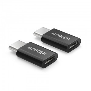 Anker USB-C to Micro USB adapter črn 2 kos