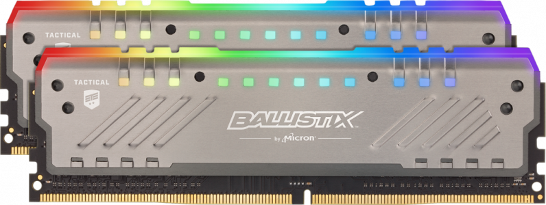 Crucial Ballistix Tactical Tracer RGB 16GB Kit (2x8GB) DDR4-3000 UDIMM PC4-24000 CL15, 1.35V