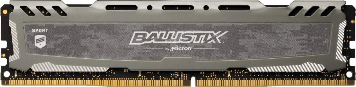 Crucial Ballistix Sport LT Gray 16GB DDR4-3000 UDIMM CL16 1.35V