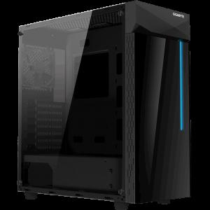 Gigabyte C200 GLASS ATX RGB osvetljeno ohišje, črno