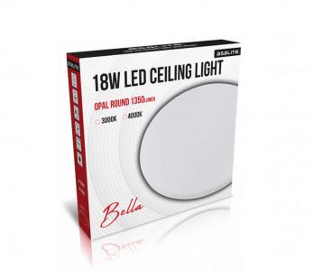 Stropna LED luč, okrogla, 18W OPAL, 3000K, 1350lm