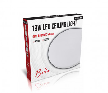 Stropna LED luč, okrogla, 18W OPAL, 4000K, 1350lm
